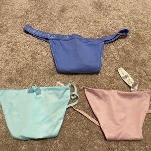 Thongs - set of 3